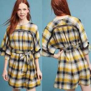 Anthropologie Maeve tie waist kimono tunic dress